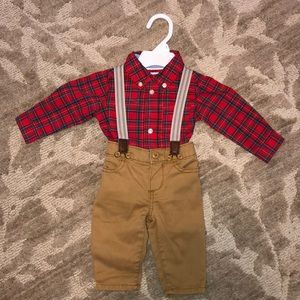 Baby boy Christmas outfit